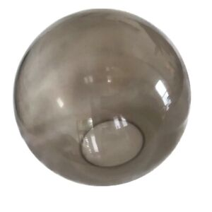 "Glass Globe Lamp Shade Replacement  31"" Circumference 9"" High Smoked MCM"