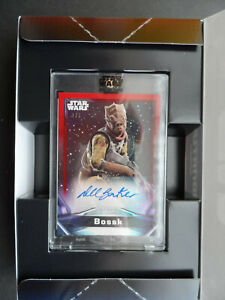 TOPPS STAR WARS SIGNATURE SERIES 2021 AUTO BOSSK 1/1 RED only one made.