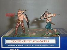 COLLECTORS SHOWCASE CS00592 ROME 43AD CELTIC WARRIORS ADVANCERS TOY SOLDIER SET