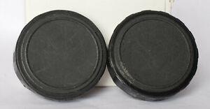 Pair of unbranded 50mm binocular caps.