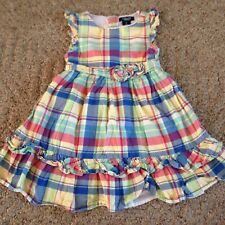Girl's Chaps dress size 4 plaid summer sleeveless pleated