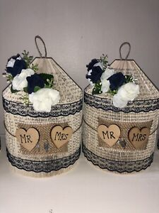 SHABBY CHIC/RUSTIC Table WEDDING Centrepieces  made from Books