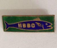 HBBC Bowling Club Badge Pin Vintage Lawn Bowls Fishing Design (L35)