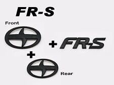 Front + Rear + FRS Trunk Badge Emblem Logo Matte Black For Scion FRS FR-S ZN6