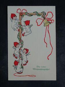 ENGEL - Künstler-AK: M. MUNK Nr. 1079 - Engel am Klettermast Glocke Weihnachten