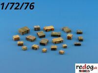 Redog 1:72 Military Boxes Military Scale Modelling Stowage Diorama Accessories 1