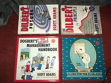 4 Dilbert and Dogbert Books Dilbert Principle,Dilbert Future Cartoon Scott Adams