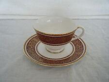 C4 Porcelain Royal Doulton Buckingham Tea Cup & Saucer 15.5x7.5cm 1D2D
