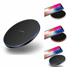 Luxury Fast QI Wireless Charger Charging Pad For Samsung S20 S10 Plus Note S9 S8