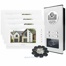 HOMSECUR 4-Flats Video Entry Intercom with 7'' Monitor & HD Camera & RFID Unlock