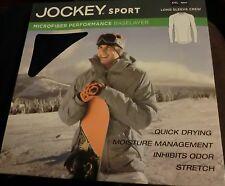 Jockey Sport Men's Microfiber Base layer Long Sleeve Crew SIZE XXL NAVY NEW