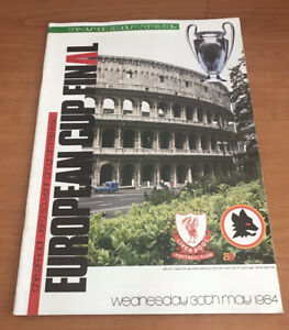Liverpool Vs AS Roma 1984 - European Cup Final Football Programme