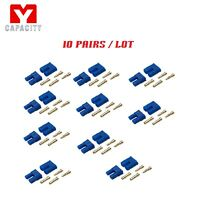 10 Pairs EC2 2.0 mm Male/Female Device/Battery Connector Gold Bullet Banana Plug