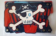 Pirate 2.1m Paper Banner Birthday Party Skull BLUE & RED pirates