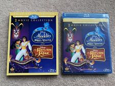 Disney Aladdin King Thieves Return of Jafar (Blu-ray, DVD, Digital) + Slipcover