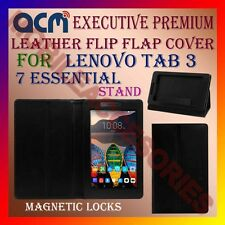 ACM-EXECUTIVE LEATHER FLIP CASE for LENOVO TAB 3 7 ESSENTIAL COVER STAND CASE