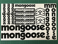MONGOOSE BMX Cycling Stickers Custom Sizes ColourS Decals Bike Frame Fork MTB