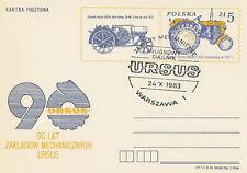 Poland postmark WARSZAWA - URSUS tractor (analogous)