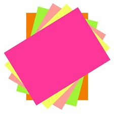 100 Sheets Of Neon Lumi Colours A4 Thin Printer Copy Paper 80 gsm Arts & Crafts