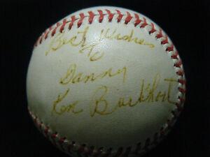 Ken Burkhart (D-2004) Umpire autographed NL Coleman baseball