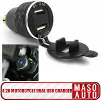 4.2A Motorrad Dual USB Ladegerät Für BMW F800GS F650GS F700GS R1200GS Stecker DE