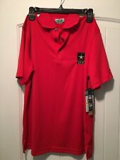 NEW Ben Hogan Mens Pullover Shirt Small S Red Polo Rugby 34-36 DPW Golf Work WOW
