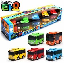 5pcs X Little Bus TAYO Wind UP Car- Tayo,Rogi,Gani,Cito,Rani/Korean TV animation