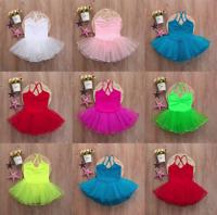 Toddler Girl Ballet Dress Tutu Leotard Dance Gymnastics Strap Clothes Outfits S9