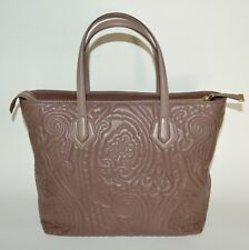 ETRO MEDIUM EMBOSSED PAISLEY LEATHER PURSE TOTE SHOULDER BAG WOMENS NEW