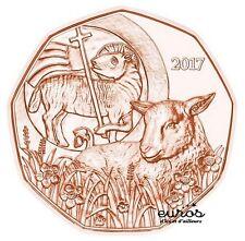 Pièce 5 euros commémorative AUTRICHE 2017 - Paques - Cuivre - UNC