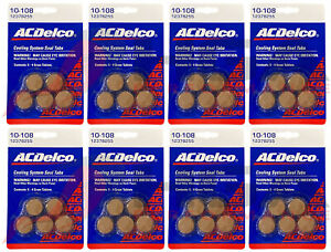 Genuine GM ACDelco Coolant System Sealing Tabs Stop Leak Set Of 8 12378255