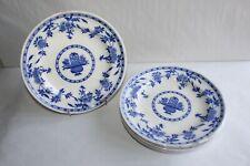 6 assiettes plates en faïence de Minton décor Delft diamètre 24.7 cm