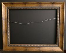 Handsome Large Custom Made Wide Border Gilded Embossed Inset Gallery Frame