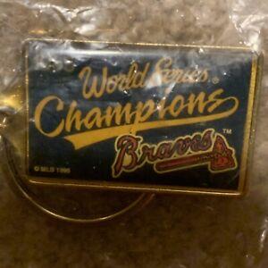 1999 World Series Keychain Key Chain New York Yankees Atlanta Braves iob