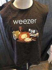 Weezer Lion On The Floor T Shirt Size Xl Cut Sleeveless Tank Distressed Music