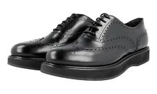 4aee58dd9489 Authentic Luxury PRADA Full Brogue Shoes 1E526G Black US 10.5 EU 40 5 41 UK  7.5