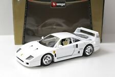 1:18 Bburago Ferrari F40 white 1987 NEW bei PREMIUM-MODELCARS