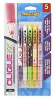 Kittrich Promarx Clique FX grip assorted designs  Mechanical Pencils, 0.7mm, 5