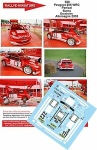 Decals 1/43 Ref 0590 Peugeot 206 WRC Gronholm Rally Germany 2003 Rally
