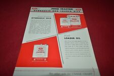Ford Tractor Hydraulic & Loader Oil Dealer's Brochure AMIL15