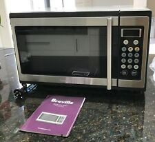 Breville Microwave Oven 1100w Stainless Steel Benchtop Model Bmo300 34l As New