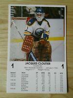 Jacques Cloutier Buffalo Sabres 86-87 NHL Postcard Blackhawks Nordiques