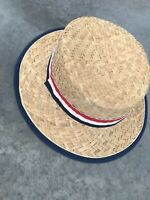 Vintage Mens Red White Blue Striped Mens Hat One Size OS