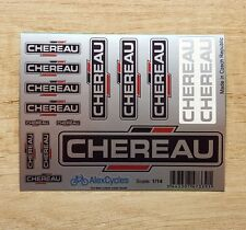 CHEREAU Tamiya 14th Scale 1/14 Reefer Trailer SILVER Decals Stickers 56319 56302