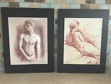 2 Limited Edition Giclee Nude Female & Male Picture Print Signed Lorenzo George