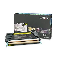 Lexmark Original C736H1YG YELLOW H/Yield Toner For C736  X736 X738- 10,000 Pages