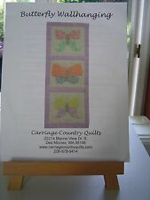 Butterfly Wallhanging Pattern  from Carriage Country Quilts