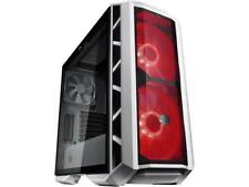 MasterCase H500P Mesh White ATX Mid-Tower Case w/ 2 x 200mm RGB Fans, Tempered G