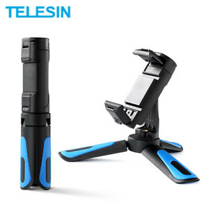TELESIN Mini Selfie Stick Tripod Phone Clip With Cold Shoe For GoPro Osmo Action