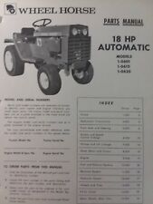Wheel Horse 18hp Automatic Lawn Garden Tractor Parts Manual 1-0601 1-0610 1-0620
